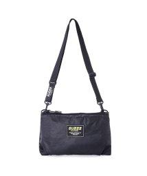 GUESS/ゲス GUESS Logo Sacoche Shoulder Bag (BLACK)/503221340