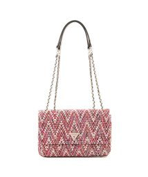 GUESS/ゲス GUESS CESSILY Tweed Convertible Crossbody Flap (PINK MULTI)/503221360