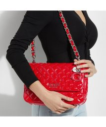 GUESS/ゲス GUESS MELISE Patent Quilted Shoulder Bag (RED)/503221412