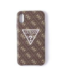 GUESS/ゲス GUESS 4G PATTERN LARGE TRIANGLE LOGO CASE for iPhone X (BROWN) (BROWN)/503221481