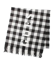 GUESS/ゲス GUESS Logo Buffalo Check  Muffler (BLACK)/503221483