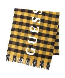 GUESS/ゲス GUESS Logo Buffalo Check  Muffler (YELLOW)/503221485