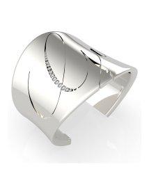 GUESS/ゲス GUESS LIQUID Italic Logo Open Bangle (Silver) (SILVER)/503221527