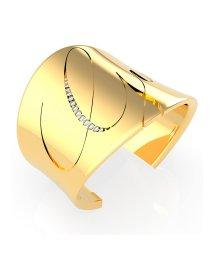 GUESS/ゲス GUESS LIQUID Italic Logo Open Bangle (Gold) (GOLD)/503221540