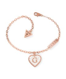 GUESS/ゲス GUESS G SHINE Pave G Heart Crystals Bracelet (Rose Gold) (ROSE GOLD)/503221546