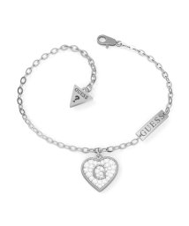 GUESS/ゲス GUESS G SHINE Pave G Heart Crystals Bracelet (Silver) (SILVER)/503221547