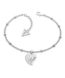 GUESS/ゲス GUESS QUEEN OF HEART Chain Heart Pendant Bracelet (Silver) (SILVER)/503221578