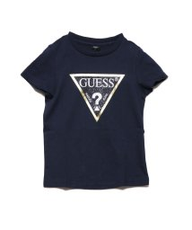GUESS/ゲス GUESS [KIDS] Metallic Gold Triangle Logo Tee (DARK NAVY)/503221610