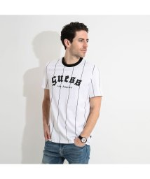 GUESS/ゲス GUESS HIT AND RUN PINSTRIPE TEE (YANKEES TWHT)/503221616