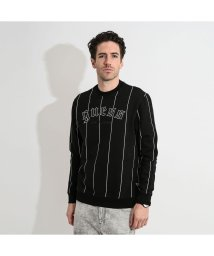 GUESS/ゲス GUESS JUDD PINSTRIPE FLEECE SWEAT (YANKEES JBLK)/503221625