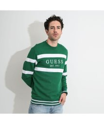 GUESS/ゲス GUESS JACK LOGO FLEECE SWEAT (FIELD GREEN)/503221629