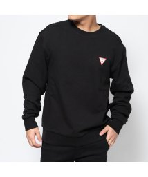 GUESS/ゲス GUESS UNISEX BIG QUESTION- LOGO SWEAT (BLACK)/503221633