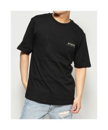 GUESS/ゲス GUESS Colorful Logo Tee (BLACK)/503221673