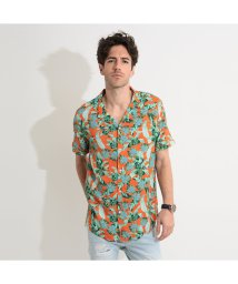 GUESS/ゲス GUESS Resort S/S Shirt (GREEN LEAVES ON ORANGE)/503221678