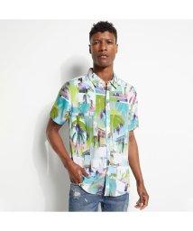 GUESS/ゲス GUESS Eco Rogan Montage S/S Shirt (LA MONTAGE PRINT)/503221725