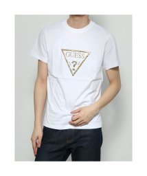 GUESS/ゲス GUESS Loose-Fit Gold Triangle Logo Tee (WHITE)/503221735