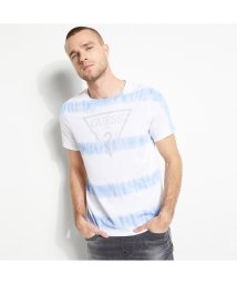 GUESS/ゲス GUESS Reflective Logo Tee (PURE WHITE MULTI)/503221737