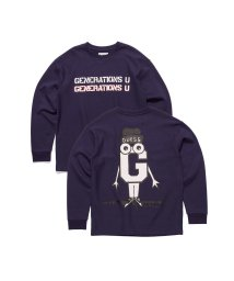 GUESS/ゲス GUESS [GUESS x GENERATIONS] LOGO SWEAT (BLUE NAVY/BLUE)/503221795