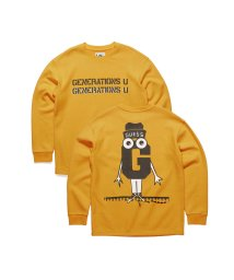 GUESS/ゲス GUESS [GUESS x GENERATIONS] LOGO SWEAT (YELLOW MIST MULTI)/503221796