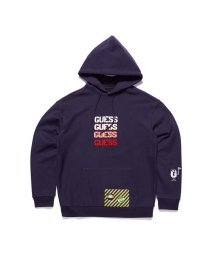 GUESS/ゲス GUESS [GUESS x GENERATIONS] LOGO HOODED PULLOVER PARKA (BLUE NAVY/BLUE)/503221800