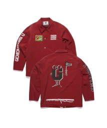 GUESS/ゲス GUESS [GUESS x GENERATIONS] LOGO NYLON COACH JACKET (RUGBY RED)/503221808