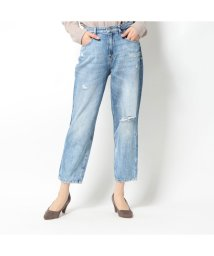 GUESS/ゲス GUESS JACQUELINE RELAXED WIDE-CROPPED DENIM PANT (LINCOLN ROAD)/503221822