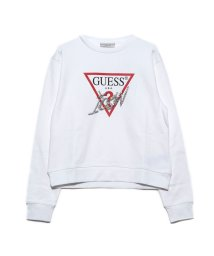 GUESS/ゲス GUESS ICON TRIANGLE LOGO FLEECE SWEAT (TRUE WHITE)/503221839