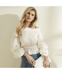GUESS/ゲス GUESS Off-The-Shoulder Celestina Top (CREAM WHITE)/503221857