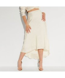 GUESS/ゲス GUESS Evolette Bias Cut Midi Skirt (FROSTED WHITE)/503221858