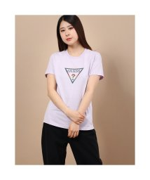 GUESS/ゲス GUESS Reflector Rainbow Triangle Logo Tee (LAVENDER)/503221929