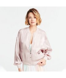 GUESS/ゲス GUESS Chloe Satin Bomber Jacket (PINK SHEER BLISS)/503221936
