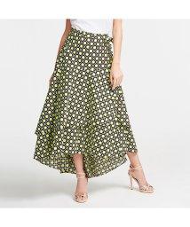 GUESS/ゲス GUESS Lara Flounce Skirt (HIPPIE DOTS GRID BLK COMBO)/503221956