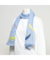 KANKAN/カンカン KANKAN リネン月柄刺繍ショール (ブルー)/503225095