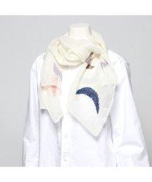 KANKAN/カンカン KANKAN リネン月柄刺繍ショール (ナチュラル)/503225096