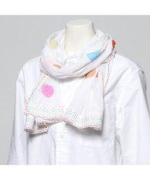 KANKAN/カンカン KANKAN クラッシュコットンドットパッチショール (ホワイト)/503225102