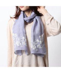 KANKAN/カンカン KANKAN リネン花柄刺繍ショール (ブルー)/503225111