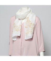 KANKAN/カンカン KANKAN リネン花柄刺繍ショール (ホワイト)/503225113