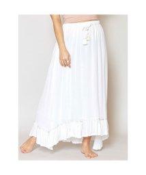 KAHIKO/【Kahiko】レーヨンクレープ刺繍ロングスカート ホワイト/503225644