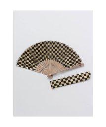 KAYA/【カヤ】紳士用 金市松扇子 袋付き ネイビー/503225750