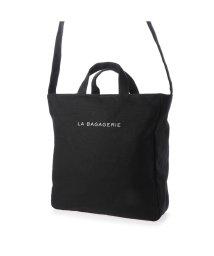 LA BAGAGERIE/ラ バガジェリー LA BAGAGERIE コットンキャンバス2wayトート Mサイズ (ブラック)/503226960