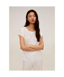 MANGO/Tシャツ .-- BLONDE (ナチュラルホワイト)/503229023