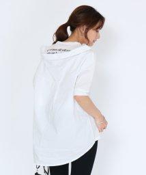SCOTCLUB/SCOTCLUB(スコットクラブ) 【手洗い可】シャツレイヤードバックロゴTシャツ/503245894
