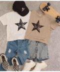 ANAP KIDS/スタープリントスラッシュビッグTシャツ/503247806