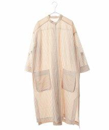 HIROKO BIS/【洗える】マルチストライプシャツワンピース/503248518