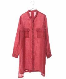 HIROKO BIS/【洗える】リネン染ロングデザインシャツ/503248542