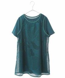 HIROKO BIS/【洗える】デザインメッシュタンクトップ&Tシャツセット/503248544