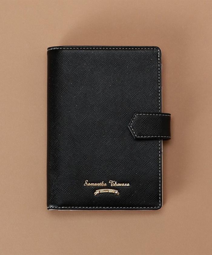【50%OFF】 サマンサタバサ シンプルデザイン パスポートケース レディース ブラック FREE 【Samantha Thavasa】 【セール開催中】