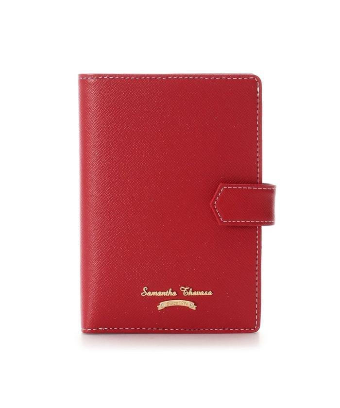 【50%OFF】 サマンサタバサ シンプルデザイン パスポートケース レディース レッド FREE 【Samantha Thavasa】 【セール開催中】