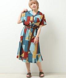 DOUBLE NAME/開襟Aラインシャツワンピース/503251474