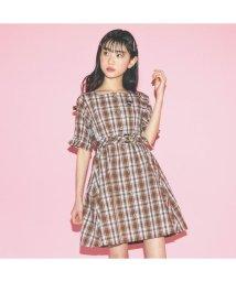 ALGY/ニコ☆プチ6月号掲載 |レトロチェックワンピ/503069012